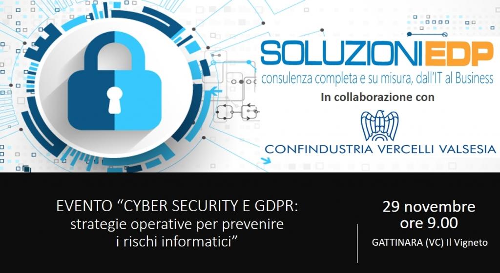 Evento Cyber security e GDPR